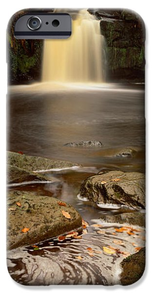 Autumn Leaf On Water iPhone Cases - Waterfall In A Forest, Thomason Foss iPhone Case by Panoramic Images
