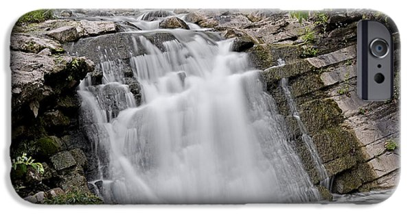 Nature Scene iPhone Cases - Waterfall in Steele Creek Park - Bristol TN iPhone Case by Brendan Reals