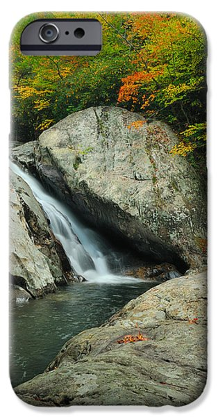 Recently Sold -  - West Fork iPhone Cases - Waterfall in West Fork of Pigeon River iPhone Case by Photography  By Sai