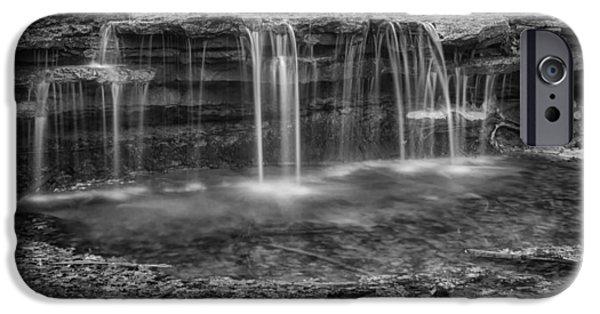 Nebraska iPhone Cases - Waterfall in Winter - Platte River State Park iPhone Case by Nikolyn McDonald