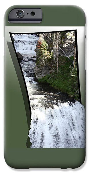 Pines Mixed Media iPhone Cases - Waterfall iPhone Case by Shane Bechler