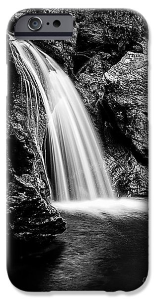 Geographic iPhone Cases - Waterfall Stowe Vermont Open Edition iPhone Case by Edward Fielding