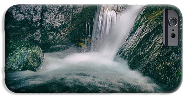 Becky Photographs iPhone Cases - Waterfall iPhone Case by Stylianos Kleanthous