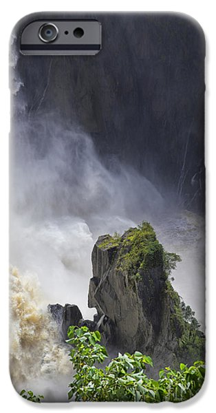 Rainy Day iPhone Cases - Waterfall View iPhone Case by Wendy Townrow