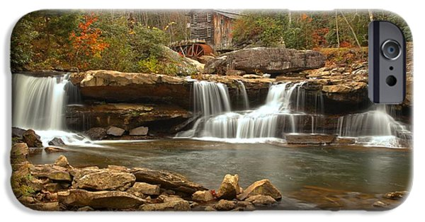 Grist Mill iPhone Cases - Waterfalls Below The Mill iPhone Case by Adam Jewell