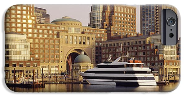 Boston Ma iPhone Cases - Waterfront, Boston, Massachusetts, Usa iPhone Case by Panoramic Images
