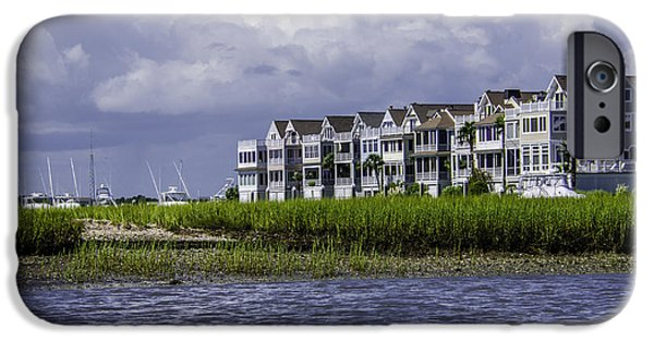 Boat iPhone Cases - Waterfront Condos iPhone Case by Dale Powell