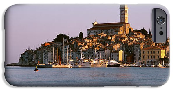 Pastel iPhone Cases - Waterfront, Rovinj, Croatia iPhone Case by Panoramic Images