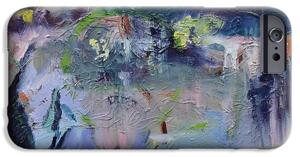 Willow Lake Paintings iPhone Cases - Watergarden iPhone Case by Donna Tuten