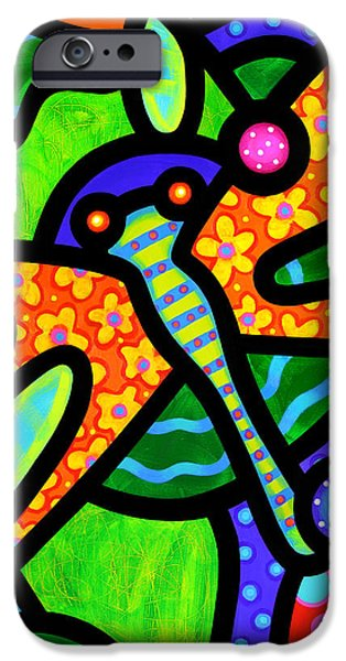 Dragonfly iPhone Cases - Watergarden iPhone Case by Steven Scott