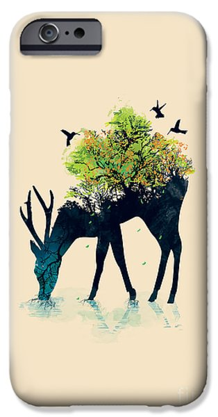 Dreams iPhone Cases - Watering A life into itself iPhone Case by Budi Kwan