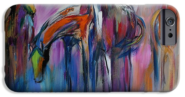 Contemporary Abstract iPhone Cases - Watering Hole iPhone Case by Cher Devereaux