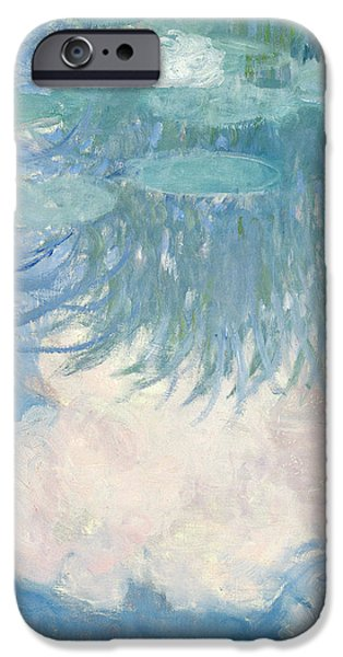 Impressionist Photographs iPhone Cases - Waterlilies, Detail, 1914-17 Oil On Canvas See Also 82318 iPhone Case by Claude Monet