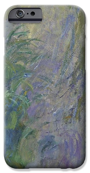 Waterlily iPhone Cases - Waterlilies Oil On Canvas Detail Of 154167 iPhone Case by Claude Monet