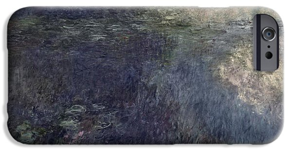 `les iPhone Cases - Waterlilies - The Clouds Left Section, 1914-18 Oil On Canvas See Also 64184 & 64185 iPhone Case by Claude Monet
