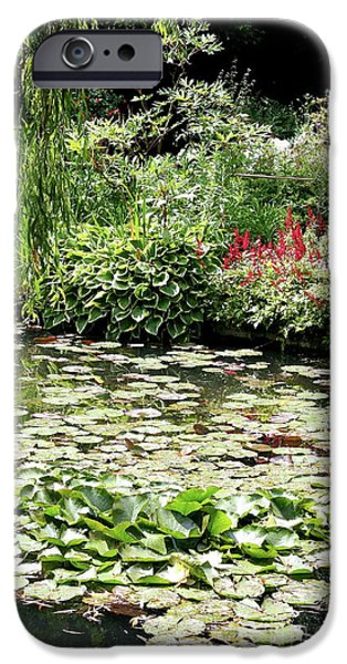Painter Photographs iPhone Cases - Waterlily Pond Giverney iPhone Case by Christiane Schulze Art And Photography