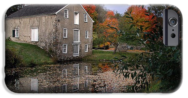Fall iPhone Cases - Waterloo Village canal iPhone Case by Doug Bates