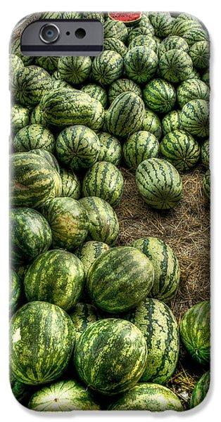 Watermelon Man Watermelon Stand iPhone Case by William Fields