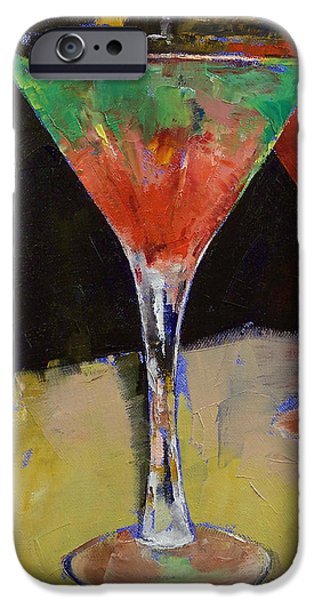 Watermelon iPhone Cases - Watermelon Martini iPhone Case by Michael Creese