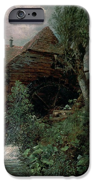 Mill iPhone Cases - Watermill At Gillingham, Dorset iPhone Case by John Constable