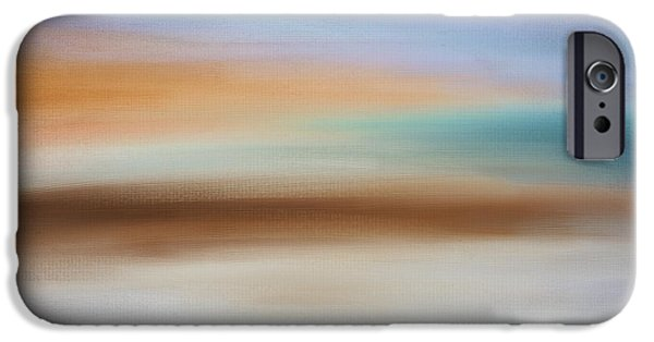 Abstract Seascape iPhone Cases - Waters Edge iPhone Case by Lourry Legarde
