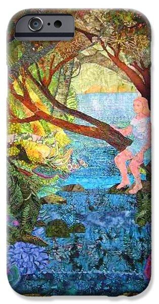 Child Tapestries - Textiles iPhone Cases - Watersprite iPhone Case by Carol Bridges