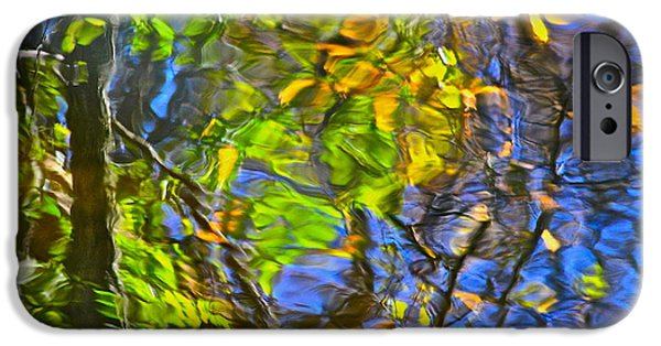 Abnormal iPhone Cases - Watery Autumn Reflection iPhone Case by Frozen in Time Fine Art Photography