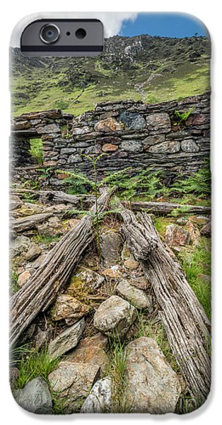 Ruin iPhone Cases - Watkin Path Ruin iPhone Case by Adrian Evans