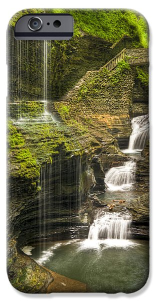 Watkins Glen iPhone Cases - Watkins Glen Falls iPhone Case by Anthony Sacco