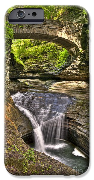 Watkins Glen iPhone Cases - Watkins Glen Waterfalls iPhone Case by Anthony Sacco