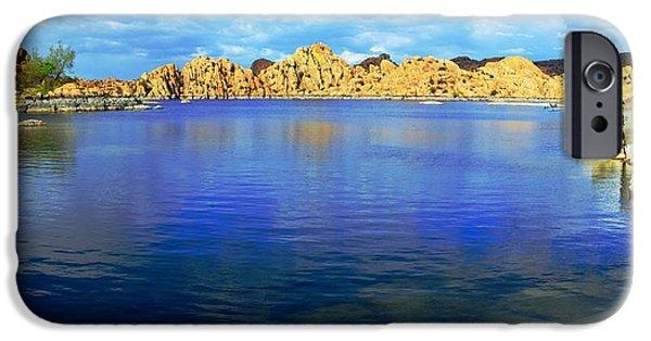 Watson Lake iPhone Cases - Watson Lake #2 iPhone Case by Richard Henne