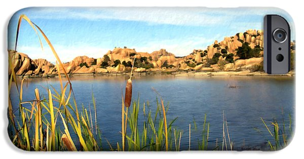 Prescott Arizona iPhone Cases - Watson Lake Arizona iPhone Case by Kurt Van Wagner