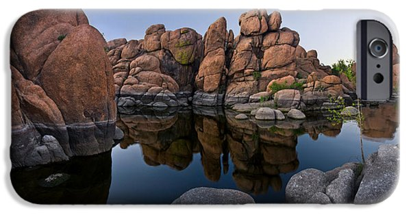 Watson Lake iPhone Cases - Watson Lake Arizona Reflections iPhone Case by Dave Dilli