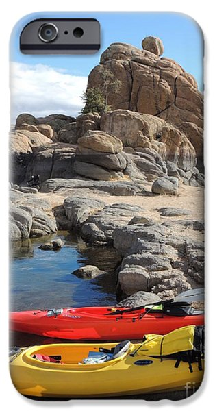Watson Lake iPhone Cases - Watson Lake iPhone Case by Diane  Greco-Lesser