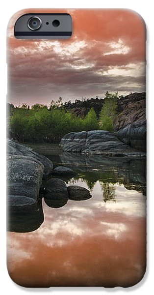 Watson Lake in Pink iPhone Case by Dave Dilli