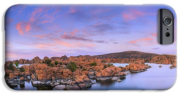 Prescott Arizona iPhone Cases - Watson Lake in Prescott - Arizona iPhone Case by Henk Meijer Photography