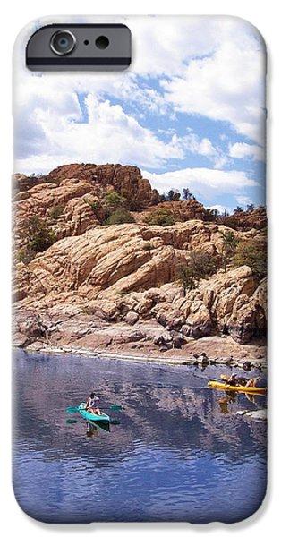 Best Sellers -  - Watson Lake iPhone Cases - Watson Lake Kayaks iPhone Case by R B Harper