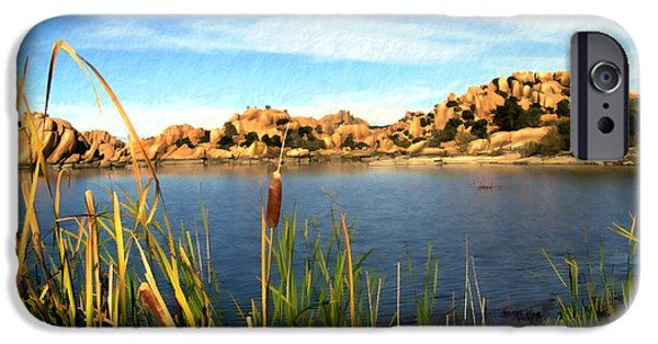 Prescott Arizona iPhone Cases - Watson Lake iPhone Case by Kurt Van Wagner