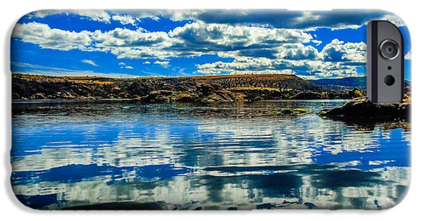 Prescott iPhone Cases - Watson Lake Reflection iPhone Case by Stephen Schwartzengraber