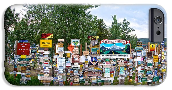 Best Sellers -  - Watson Lake iPhone Cases - Watson Lake Sign Forest along Alaska Highway in  Yukon-CANADA iPhone Case by Ruth Hager