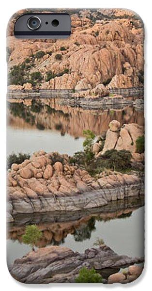 Watson Lake Sunset iPhone Case by Angie Schutt