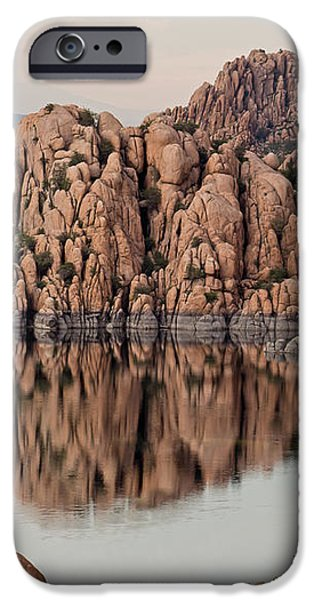 Watson Lake Tranquility iPhone Case by Angie Schutt