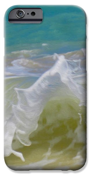 Wave 3 iPhone Case by Cheryl Young
