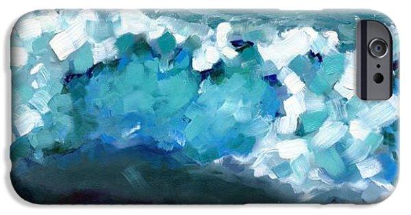 Alga iPhone Cases - Wave Emotion on the Wild Atlantic Way of Western Ireland iPhone Case by Catherine Considine