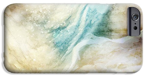 Abstract Seascape iPhone Cases - Wave iPhone Case by Gun Legler