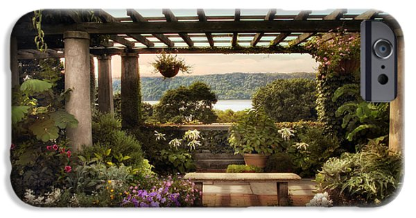 Hudson River Digital iPhone Cases - Wave Hill Pergola iPhone Case by Jessica Jenney