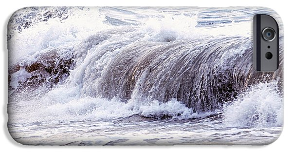 Storm iPhone Cases - Wave in stormy ocean iPhone Case by Elena Elisseeva