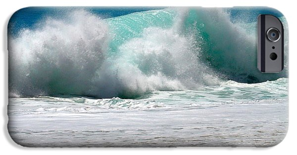 Water Photographs iPhone Cases - Wave iPhone Case by Karon Melillo DeVega