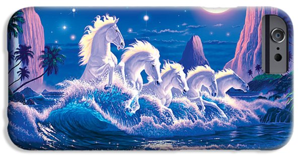 Animals Photographs iPhone Cases - Wave Of Horses iPhone Case by Chris Heitt
