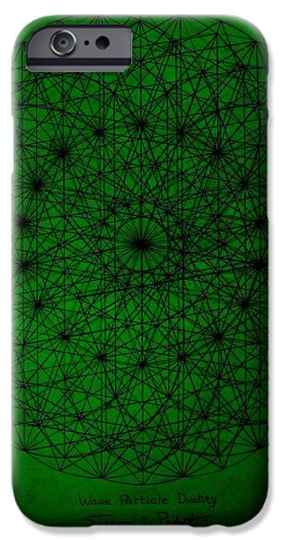 Wave Particle Duality II iPhone Case by Jason Padgett